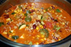 Hearty Three-Bean Soup